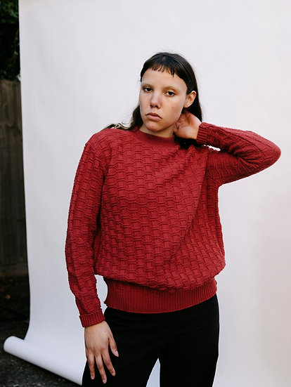 Vintage 90's Geometric Knit Sweater Jumper