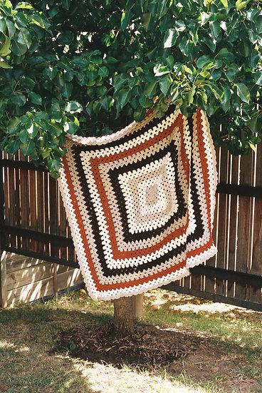 Australian Hand Crochet Woollen Throw Blanket