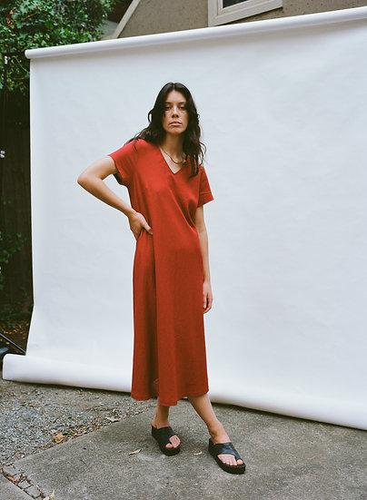 Vintage Liz Jordan Linen Full Length Dress