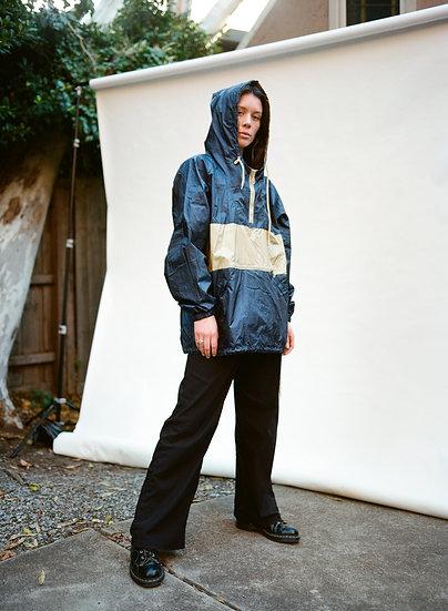 Vintage Gazman 90's Wind Breaker Hooded Jacket and Matching Purse Bag