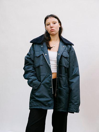 Vintage Action Wear Detachable Faux Fur Collared Rain Jacket