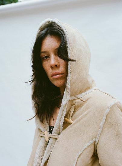 Vintage Faux Fur and Suede Hooded Jacket
