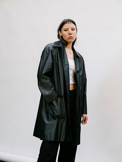 Vintage 90's Carlisle 100% Pure Silk Trench Jacket