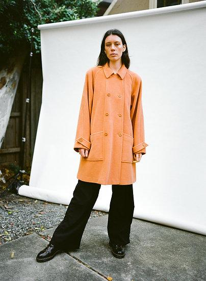 Vintage Peter Metchev Australian Detachable Hooded Pure Wool Coat