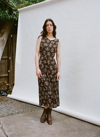 Vintage Ann Taylor Loft 90's Floral Full Length Dress