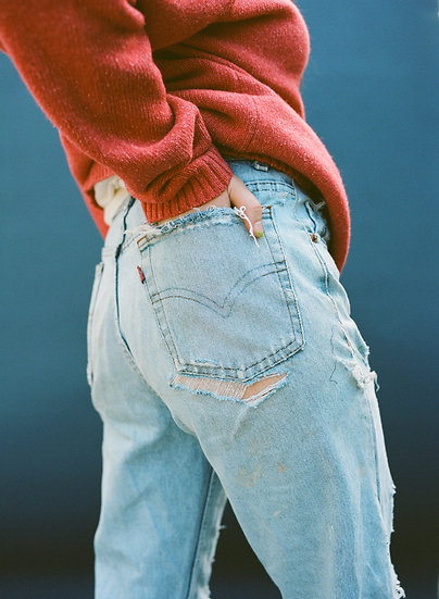 Vintage 501 Distressed High Waist Levi Jeans
