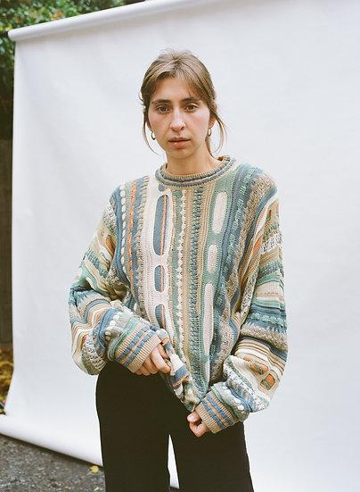 Vintage Carlo Alberto Australian Pure Cotton Knitted Sweater