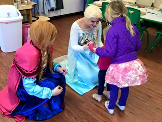 Snow Sisters visit Kids Zone Open House