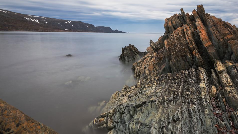 Varanger in June 2019. A 15 second exposure.