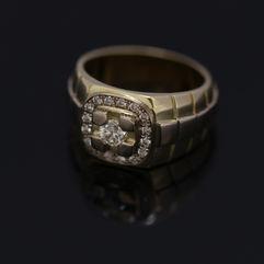 Herenring met diamant