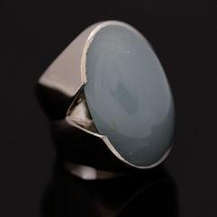 Witgouden aquamarijn ring