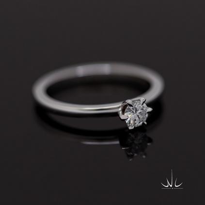 Verlovingsring met 0.25ct diamant