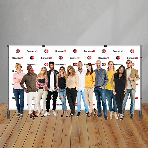 16' x 8' Step and Repeat Banner + Stand