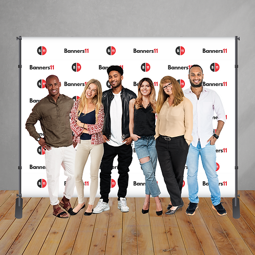 10' x 8' Fabric Step and Repeat Banner + Stand