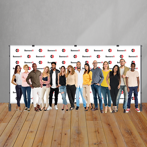 20' x 8' Fabric Step and Repeat Banner + Stand