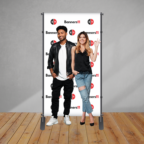 4' x 8' Fabric Step and Repeat Banner + Stand
