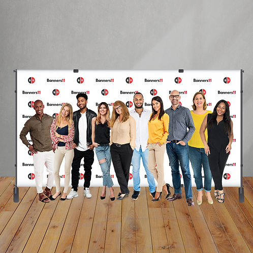 14' x 8' Fabric Step and Repeat Banner + Stand