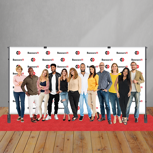 16' x 8' Step and Repeat Banner + Stand + Red Carpet