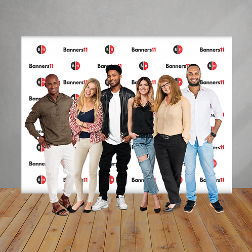 10' x 8' Fabric Step and Repeat Banner