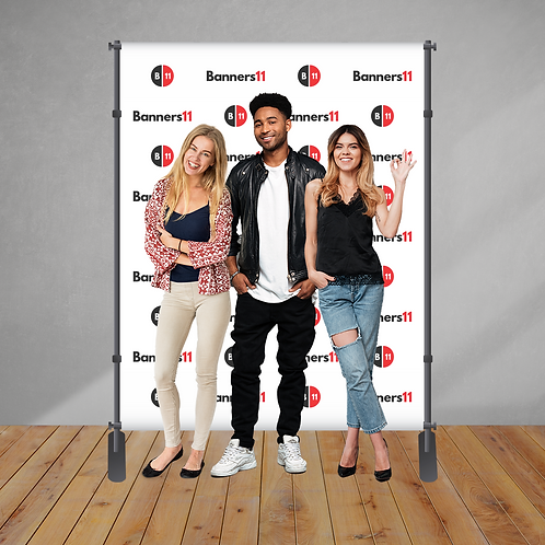 6' x 8' Fabric Step and Repeat Banner + Stand