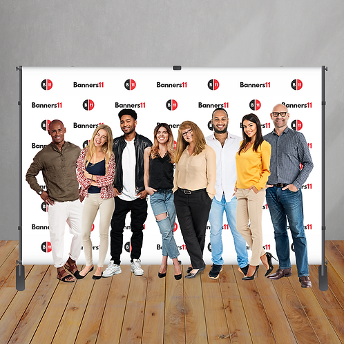 12' x 8' Fabric Step and Repeat Banner + Stand