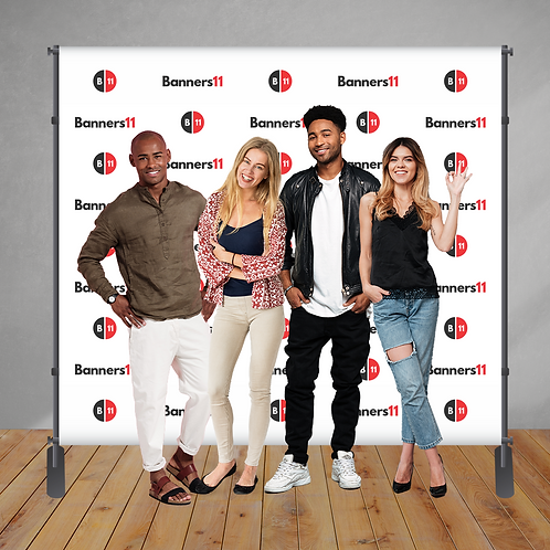 8' x 8' Step and Repeat Banner + Stand