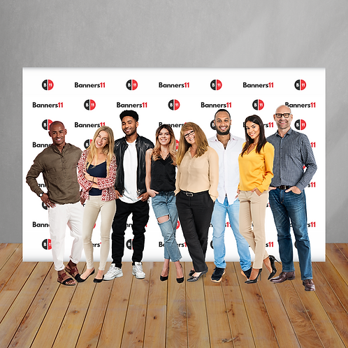 12' x 8' Fabric Step and Repeat Banner