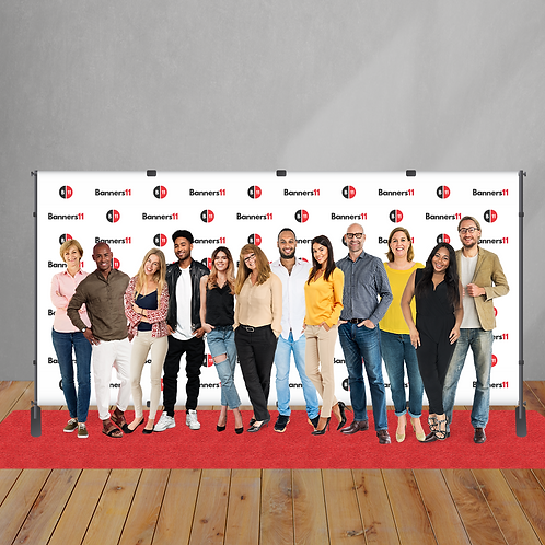 18' x 8' Step and Repeat Banner + Stand + Red Carpet
