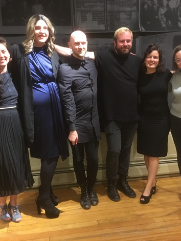 The Artists and the Curator of the show