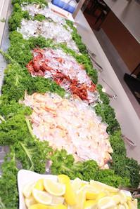 Seafood Served on Ice
