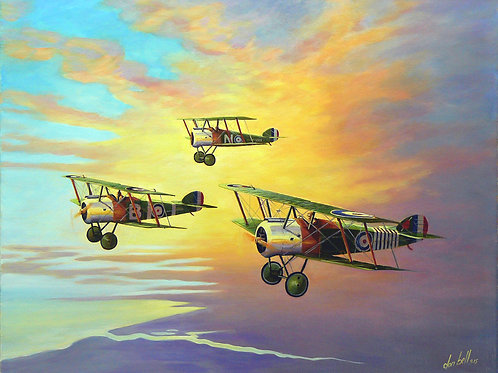 Don Bell T-91 Sopwith camel painting