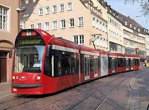 VAG_Tram_car_285,_line_1_towards_Landwas