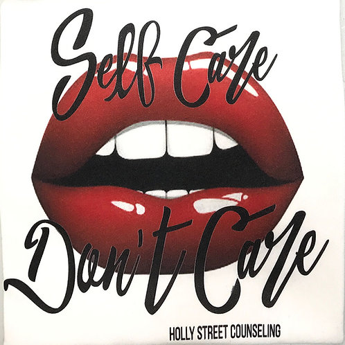 Self Care Don't Care- Red Lips T-Shirt