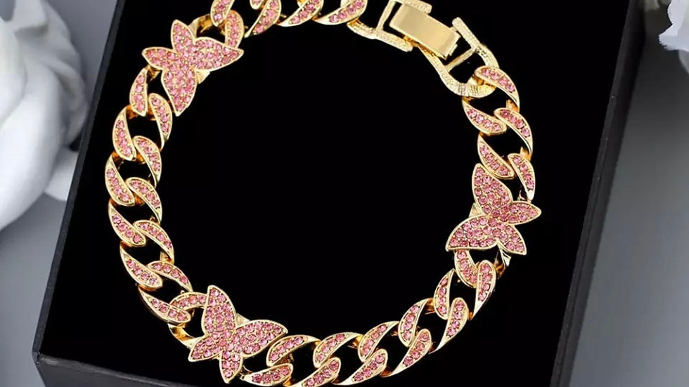 Fly Away 2 Anklet (Gold Tone)