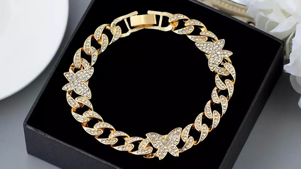Fly Away Anklet (Gold Tone)