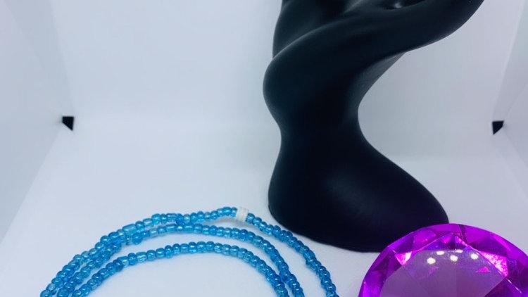 Blue Waist Beads ft Hamsa Hand