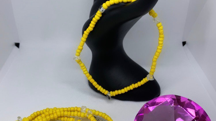 Yellow Waist Beads w/ Anklet