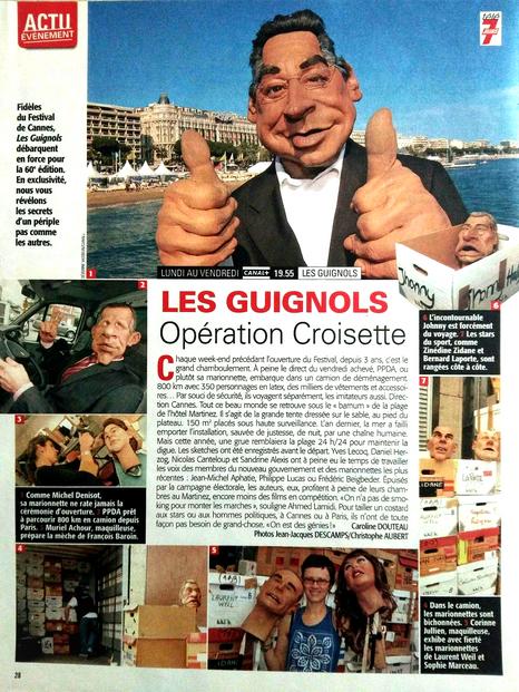 Article coulisses Guignols