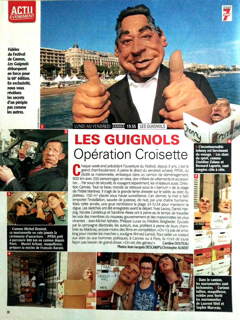 Article coulisses Guignols