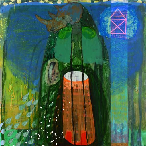 Semis. Acrylique sur toile. 130 x 130