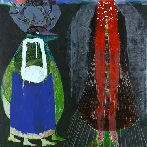 Ascension.  Acrylique sur toile. 130 x 130