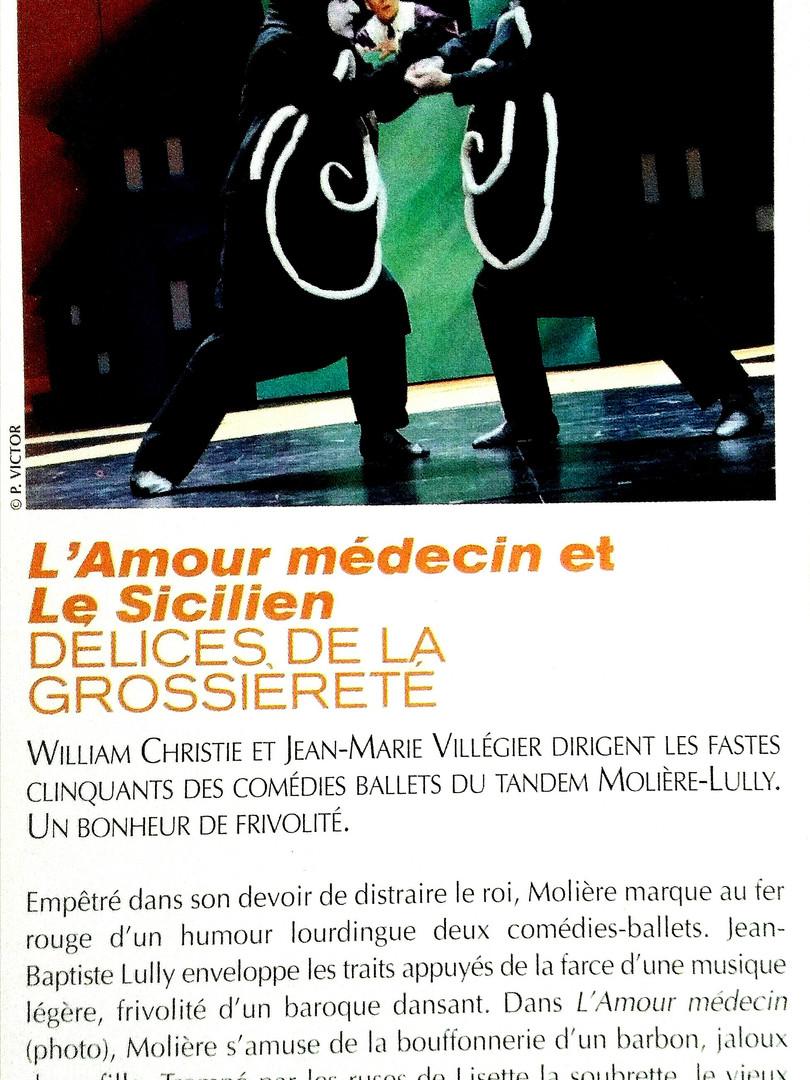 L'Amour Médecin. Comédie Française