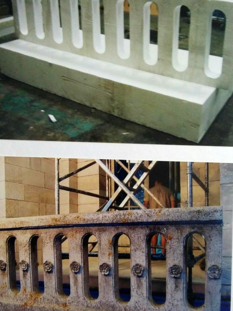 Réalisation ornements sur balustrade