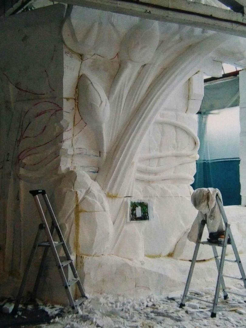 Bas relief polystyrène