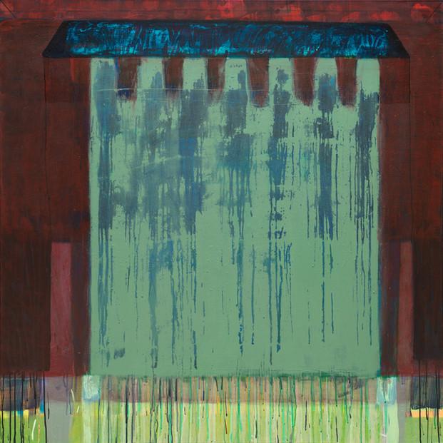 Maison Active. Acrylique sur toile. 140x140