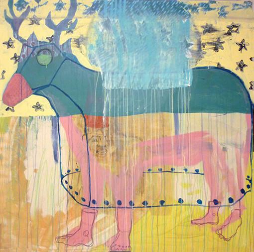 Evaporé e. Acrylique sur toile. 140 x 140
