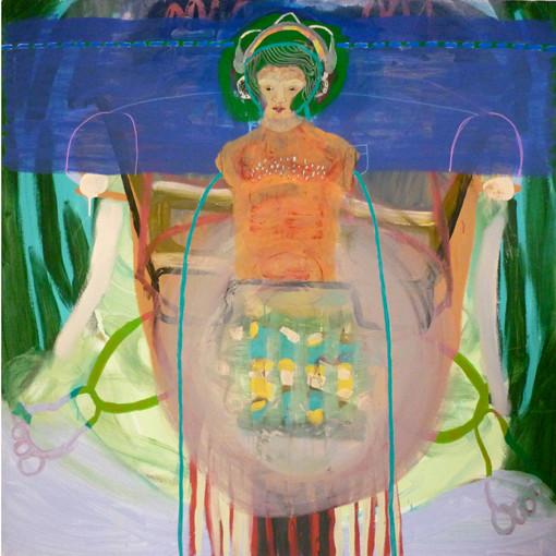 Dilution.  Acrylique sur toile. 130 x 130