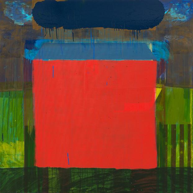 Abritation.  Acrylique sur toile. 130 x 130