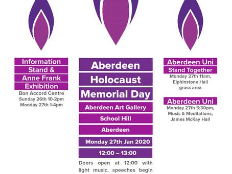 Holocaust Memorial Day 27/1/2020