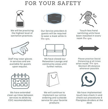Safety measures in our spa